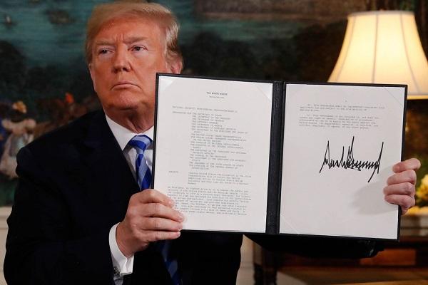 Trump confirma saída dos EUA de acordo nuclear com o Irã
