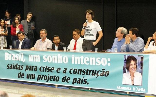 Na UFBA, Manuela diz acreditar em 4 candidaturas de esquerda no 1º turno