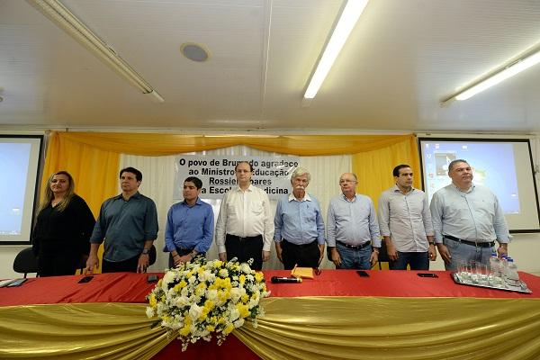 José Ronaldo e ACM Neto participam de lançamento de Faculdade de Medicina em Brumado