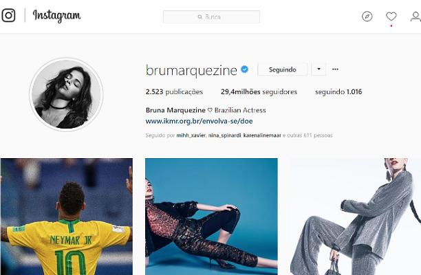 Bruna Marquezine volta a superar Anitta no Instagram