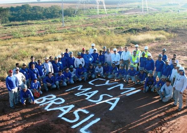 Trabalhadores paralisam obra da linha de transmissão da CYMI na Bahia