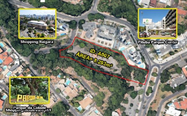 Prefeitura de Salvador vende terreno de 8,2 mil metros quadrados no Itaigara