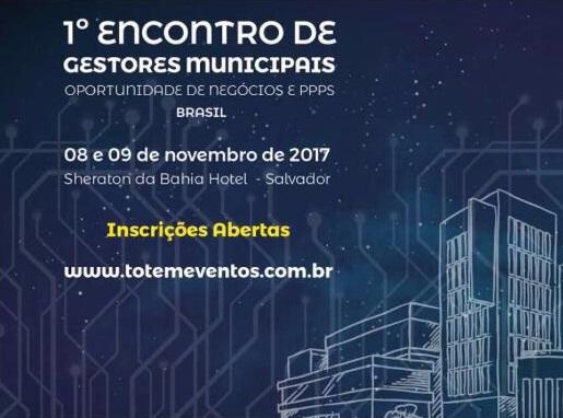 Evento sobre PPPs e concessões reúne gestores municipais em Salvador nesta quarta