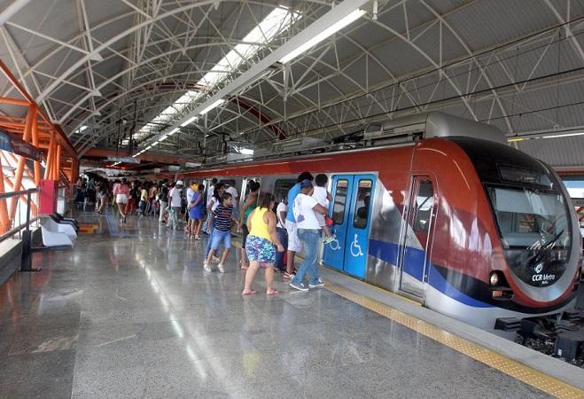 Metrô terá operação especial para jogo do Bahia e show de Sandy e Júnior