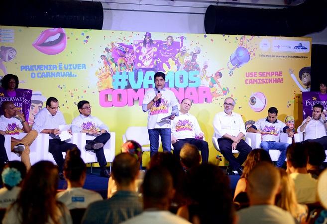 ACM Neto e ministro da Saúde lançam Campanha de Prevenção às DSTs no Carnaval