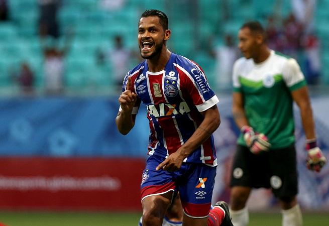Bahia vence o Atlântico por 2 a 1 e se mantém no G-4 do Baianão; veja os gols