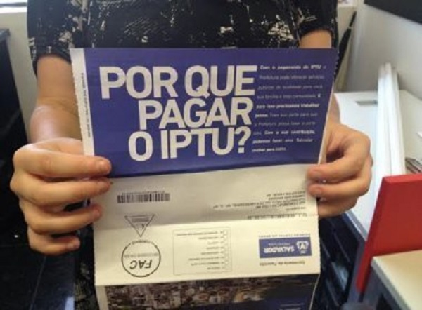 Boletos do IPTU 2020 de Salvador já estão disponíveis na internet