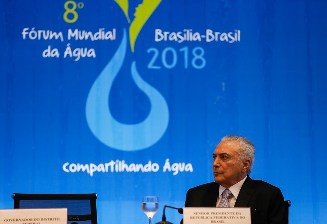 Fórum Mundial da Água: Temer diz que governo trabalha em marco regulatório do saneamento