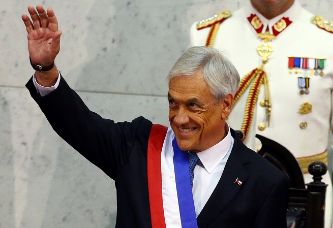 Resultado de imagem para O presidente do Chile, Sebastián Piñera