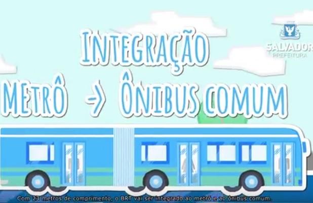Prefeitura divulga animação sobre o BRT de Salvador