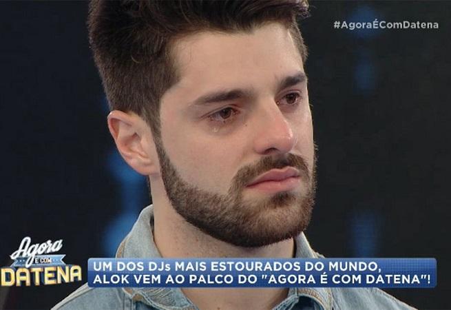 DJ Alok chora no programa de Datena e confirma que namorada perdeu bebê
