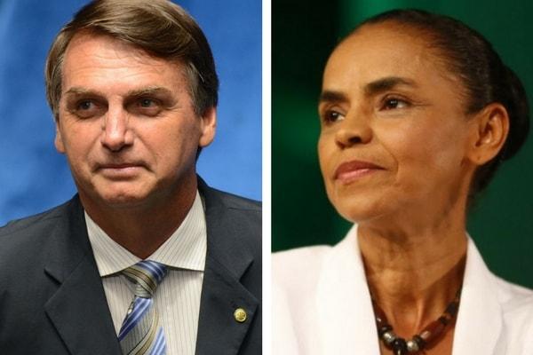 Usuários de redes sociais ligam Marina a número de Bolsonaro