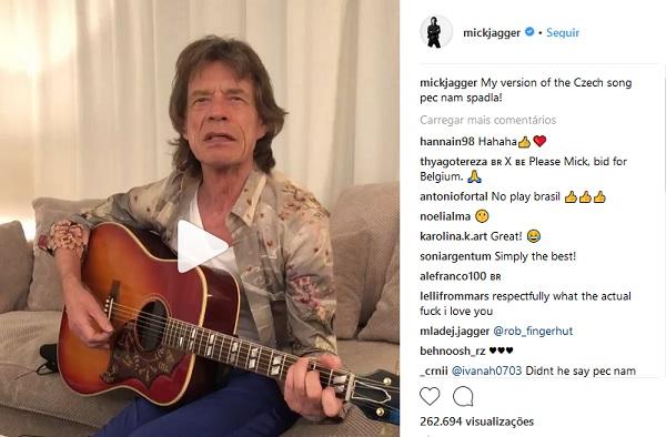 Brasileiros pedem a Mick Jagger para não torcer pelo Brasil