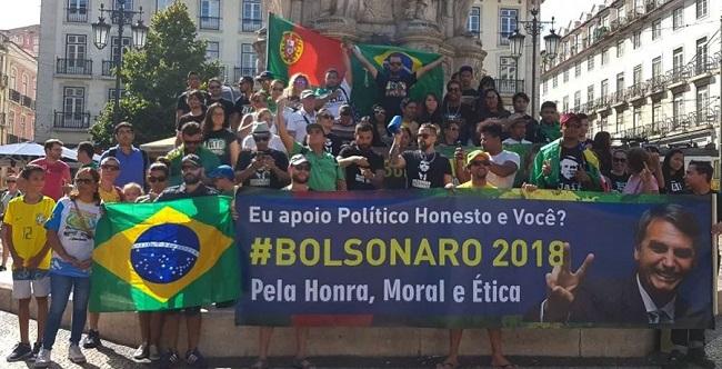 Bolsonaro tem 79% dos votos dos brasileiros em Portugal, 68% na Austrália e 90% no Japão