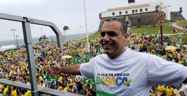 Manifestação #PTnão lota o Farol da Barra em Salvador