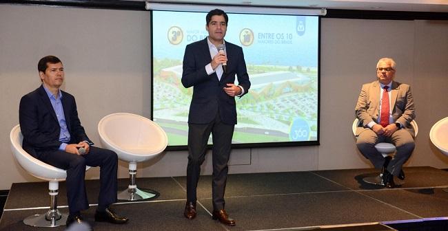 ACM Neto apresenta novo Centro de Convenções de Salvador em São Paulo