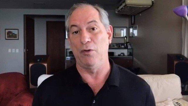 Pedetista Ciro Gomes testa positivo para covid-19