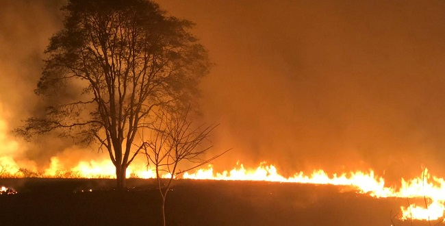 Barra sofre com incêndio de grandes proporções