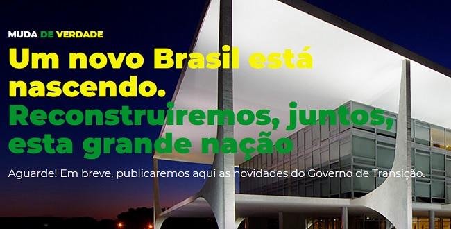 PSL lança #PortalMudaDeVerdade para divulgar ações do governo de transição