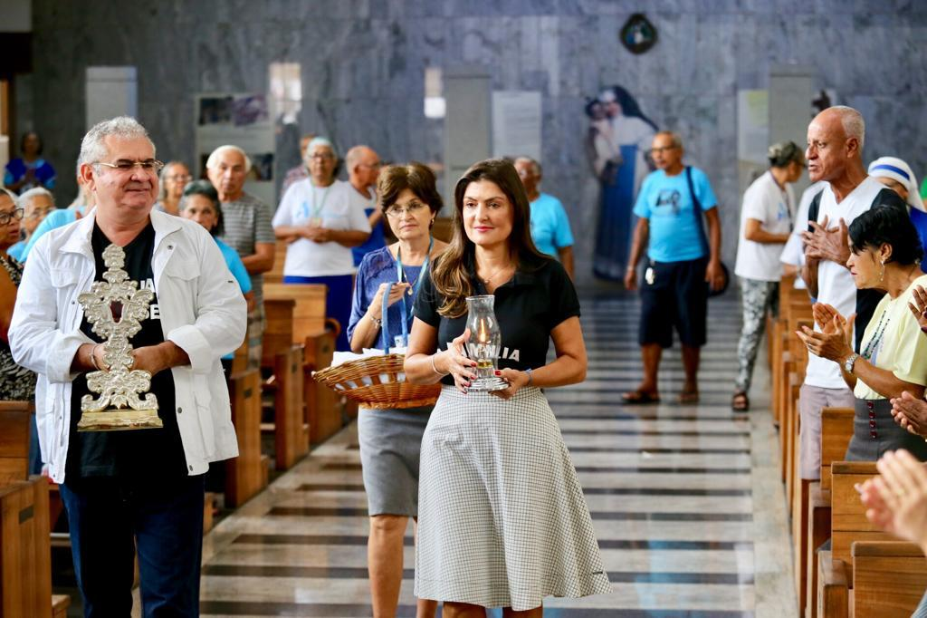 Coronel participa de missa no Santuário de Irmã Dulce