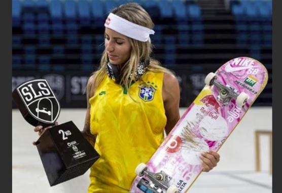 """Neymar comemora vice-campeonato da skatista Letícia Bufoni: """"Parabéns, meu amor"""""""