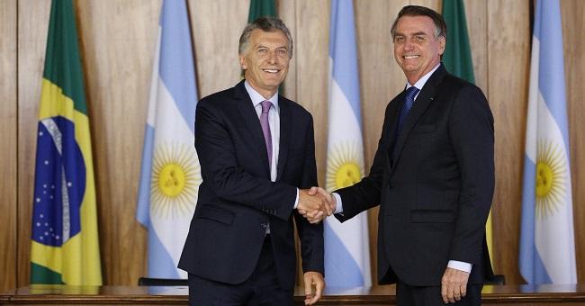 Bolsonaro fará visita a Macri na Argentina nesta quinta