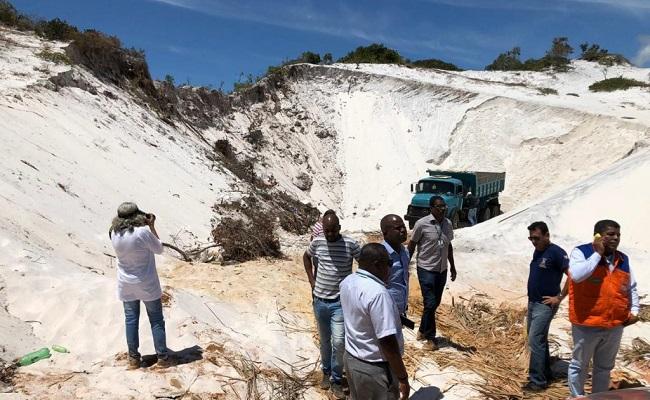 Prefeitura de Camaçari flagra extração ilegal de areia em Jauá