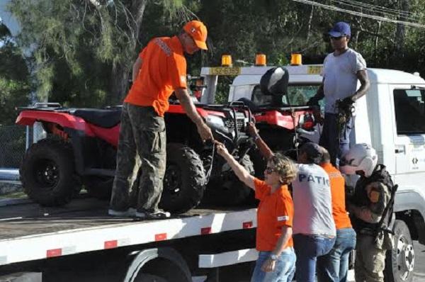 Detran conscientiza sobre uso de quadriciclo no litoral baiano