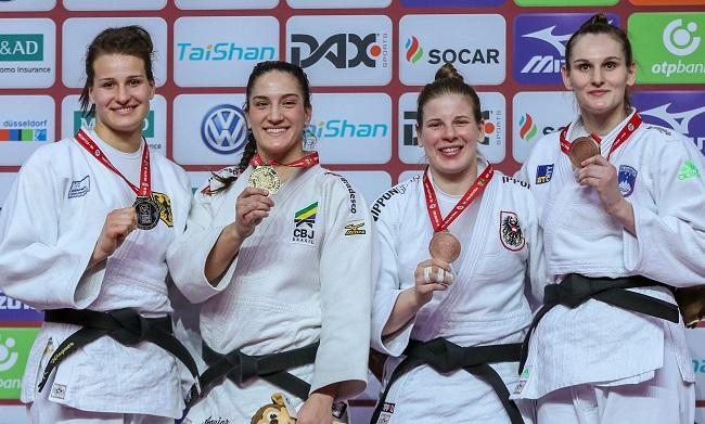Mayra Aguiar fatura ouro e Brasil fica em 2º no Grand Slam de Judô na Alemanha