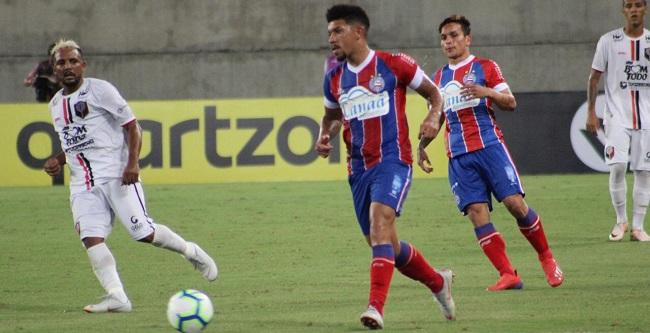 Bahia vence o Santa Cruz-RN por 1 a 0 e avança na Copa do Brasil