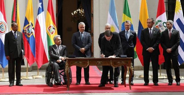 Brasil e mais sete países assinam a declaração de criação do Prosul