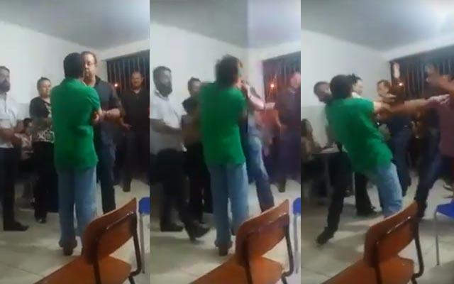 Prefeito de Morro do Chapéu agride empresário com um tapa; assista