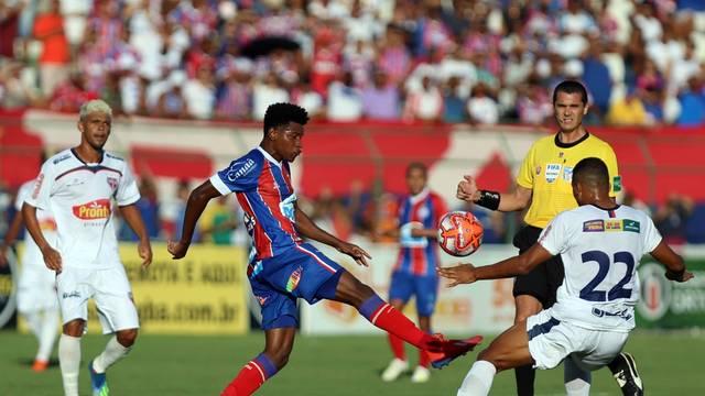 Bahia de Feira e Bahia empatam em 1 a 1; veja os gols