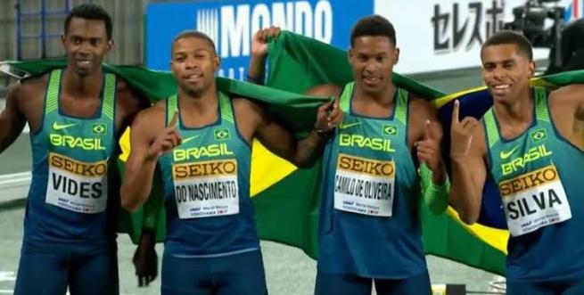 Atletismo: Brasil é campeão mundial do revezamento 4×100 no Japão