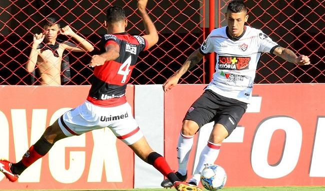 Fora de casa, Vitória empata com o Atlético-GO em 1 a 1; veja os gols