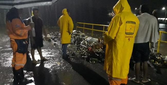 Defesa Civil de Camaçari segue em estado de alerta por conta da chuva