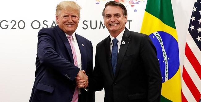 Bolsonaro e Trump iniciam conversa sobre livre-comércio entre Brasil e EUA