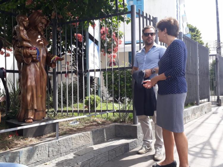 Representante do Vaticano visita as Obras Sociais Irmã Dulce
