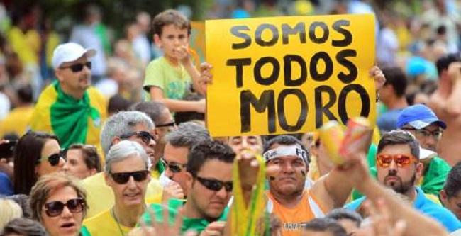 Movimentos em defesa de Moro e da Lava Jato convocam manifestação para dia 30