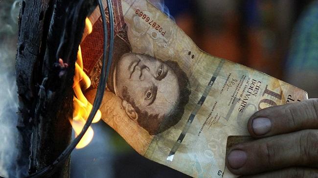 Inflação na Venezuela ultrapassa 1 milhão por cento, diz FMI