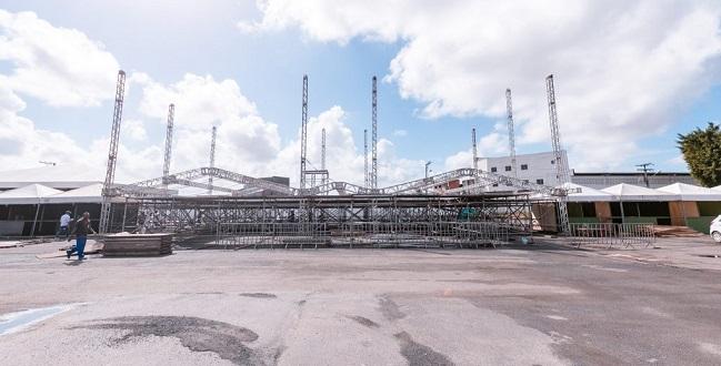 Camaforró 2019 já está com 80% da sua estrutura montada