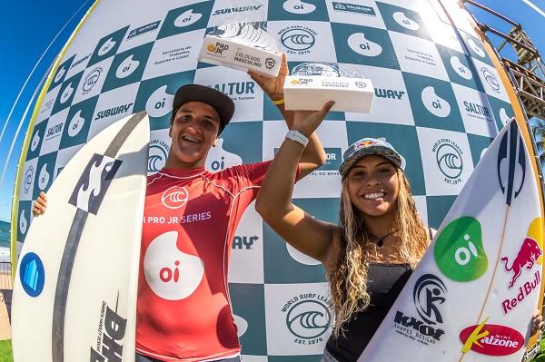 Tainá Hinckel e Eduardo Motta vencem etapa do Oi Pro Junior Series em Salvador