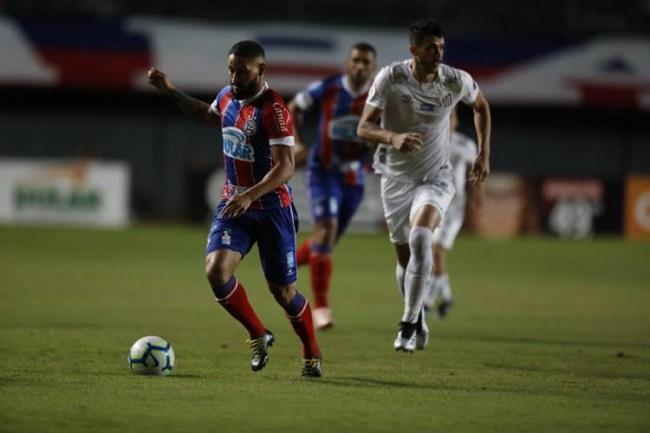 Em casa, Bahia perde para o Santos por 1 a 0; veja o gol