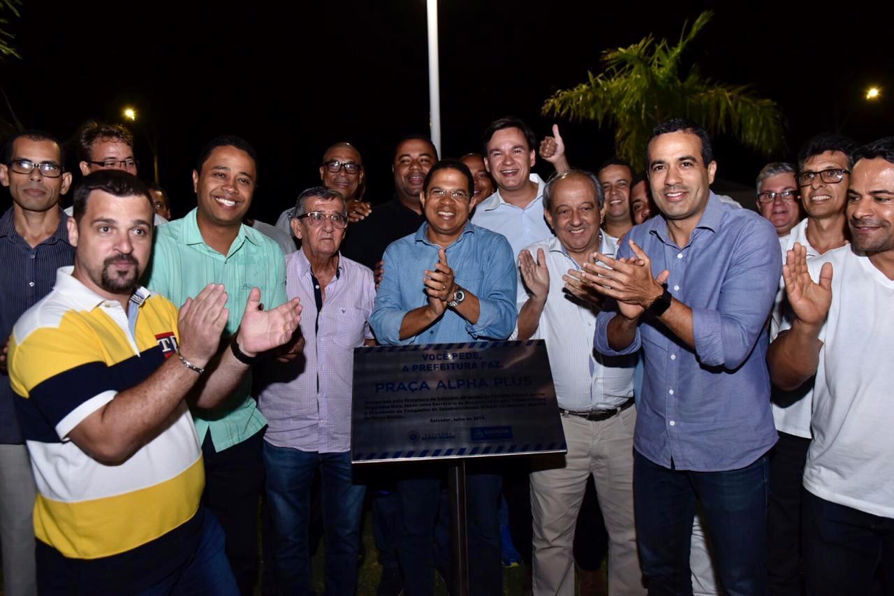 Bruno Reis entrega espaço de lazer e nova iluminação em Patamares