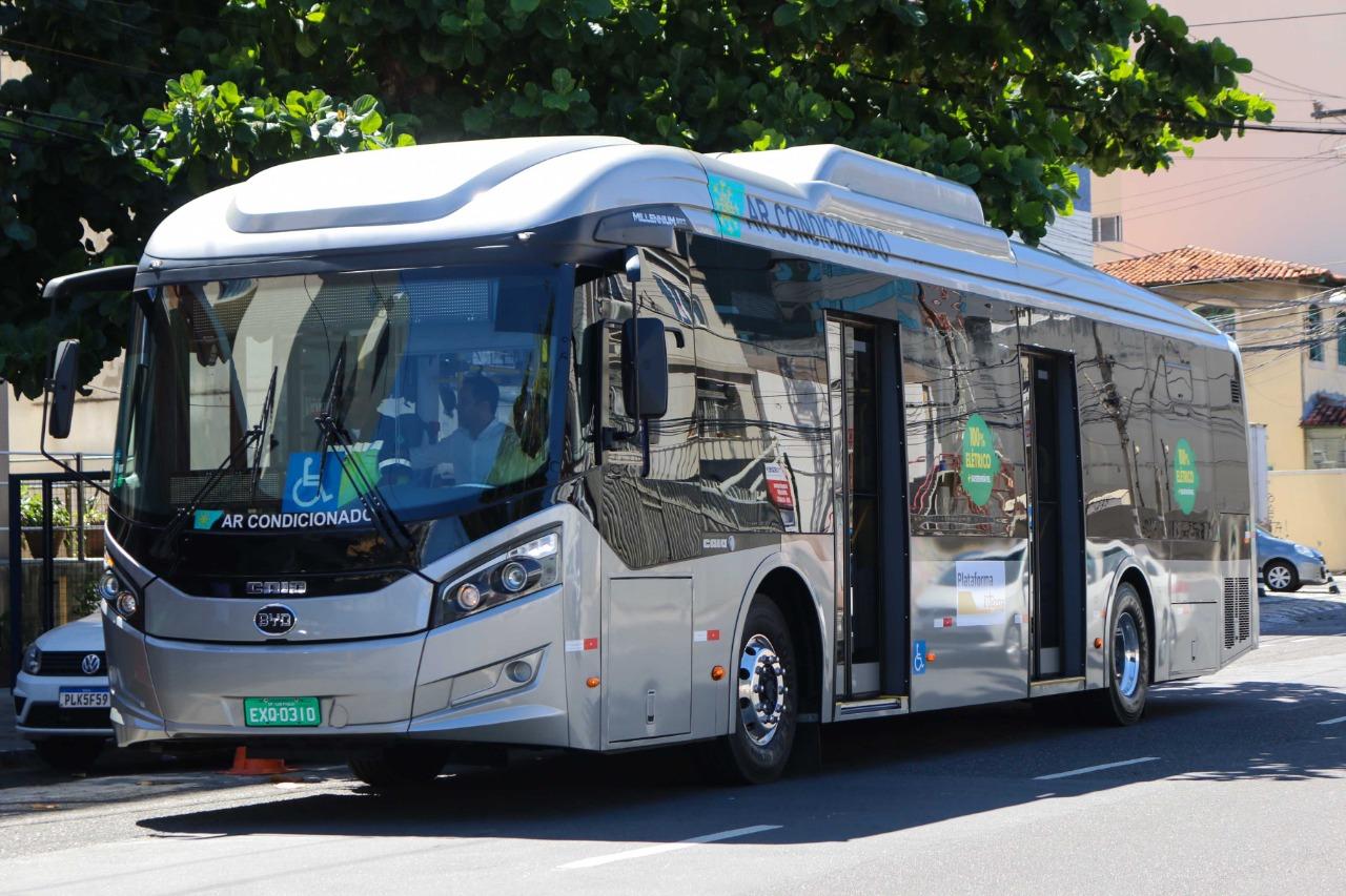 Ônibus 100% elétrico será testado em Salvador a partir desta terça