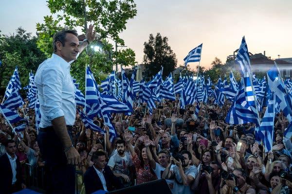 Conservadores vencem as eleições para o Parlamento da Grécia