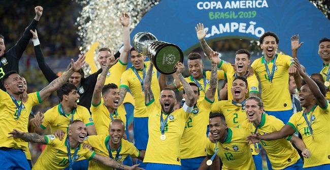 Brasil aplica 3 a 1 no Peru e conquista a Copa América pela 9ª vez; veja os gols