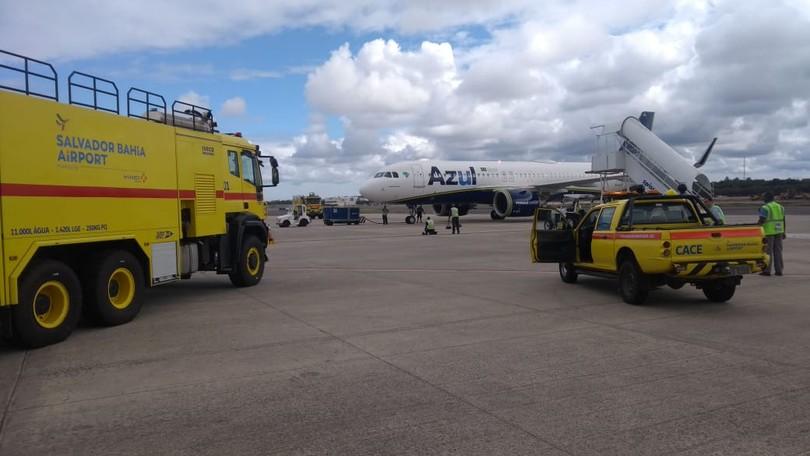 Avião da Azul faz pouso de emergência no aeroporto de Salvador