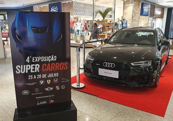 Shopping Barra vai receber 60 veículos da exposição Super Carros