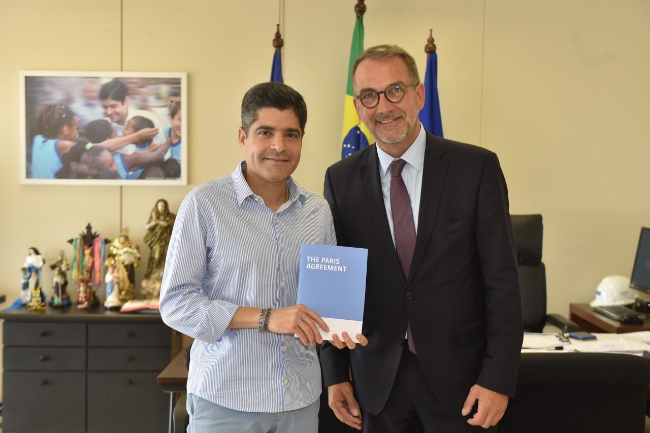 ACM Neto recebe dirigente da ONU e confirma presença na COP-25